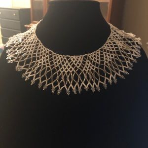 Jewelry - White handmade beaded Mexican necklace